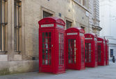 Red Phone Boxes — Stock Photo