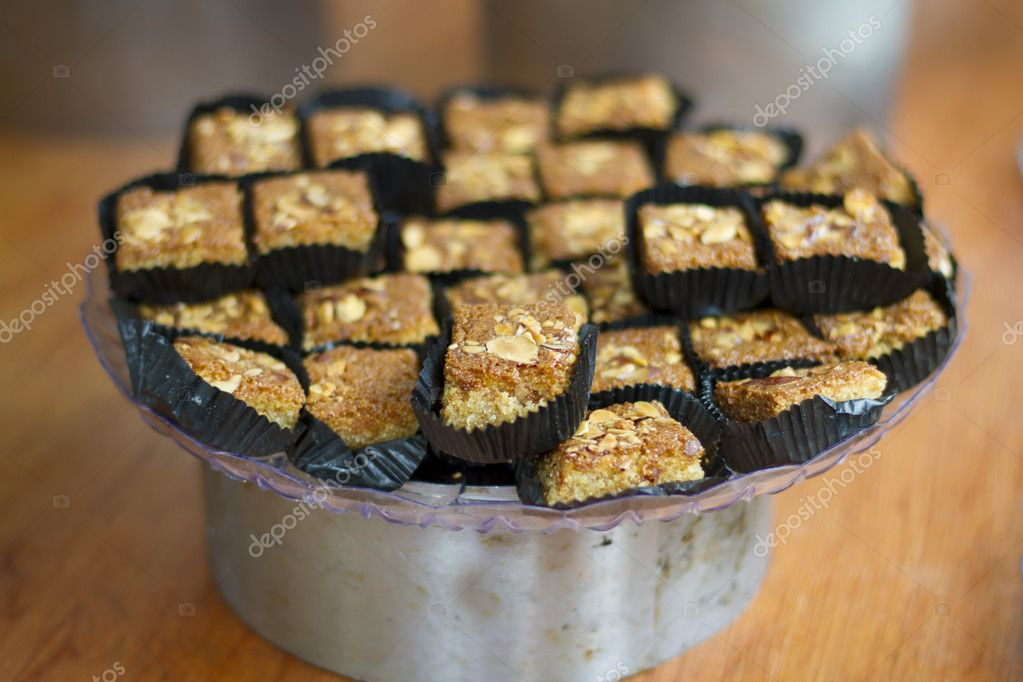 Tray of Baklava with a narrow depth of field  Stock Photo #9929928