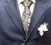 Business formal wear with tie and suit — Stock Photo