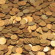 Full frame background with mixed coins — Stock Photo