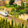 Train in Tarragona, Spain - Stock Photo