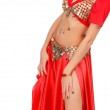 Belly dancer isolated on a white background — Stock Photo