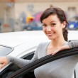 Smiling female driver — Stock Photo