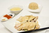 Hainan chicken rice — Stock Photo