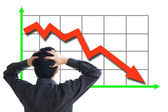 Stock price declining — Stock Photo