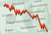 Economy recession concept — Stock Photo