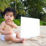 Beach baby — Stock Photo