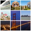 San Francisco city collage — Stock Photo
