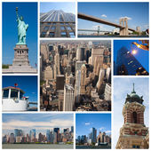 New York city collage — Stockfoto