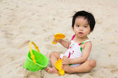 Beach playtime — Stock Photo