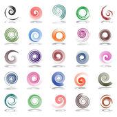 Elementos de design em espiral. — Vetorial Stock