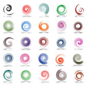 Spiral design elements. — Stockvektor