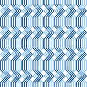 Interlacing pattern. Seamless geometric texture. — Stock Vector