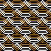 Seamless geometric texture. Interlacing pattern. — Stock Vector