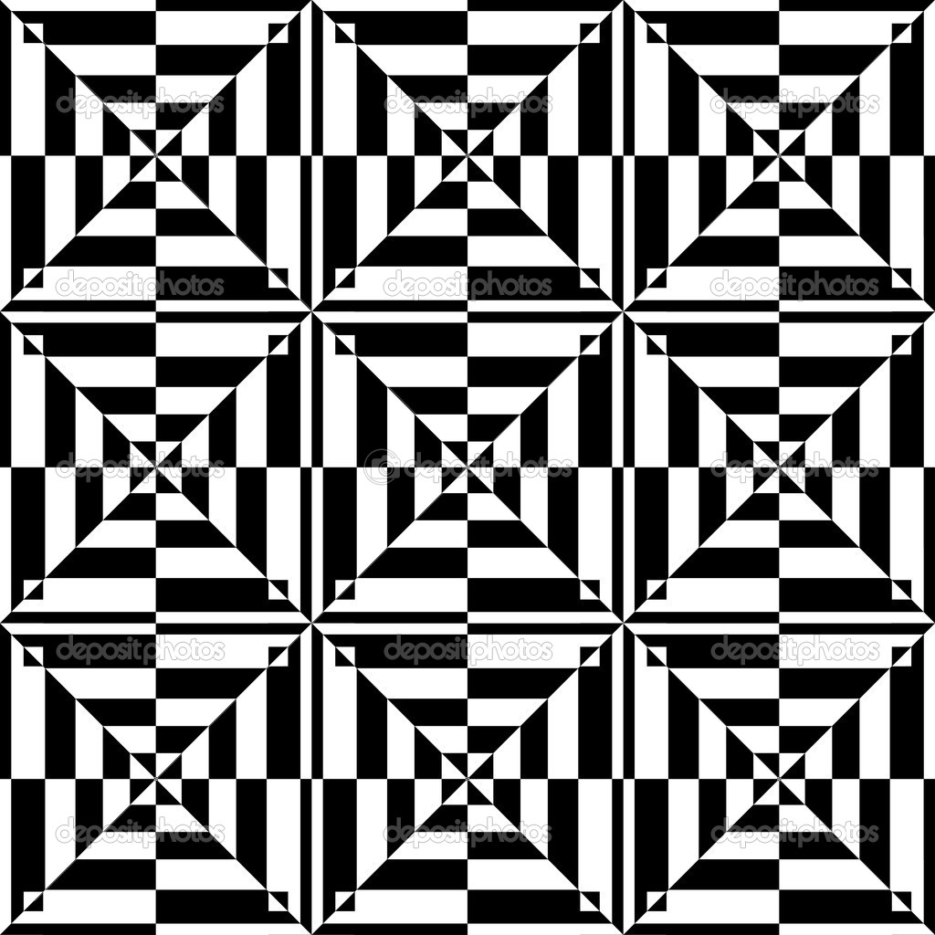 Op Art Design Seamless Geometric Pattern Stock Vector