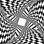 Abstrait avec effet d'illusion d'optique. — Vecteur