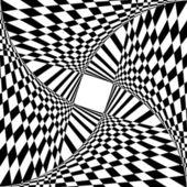 Abstrakt bakgrund och med optisk illusion. — Stockvektor