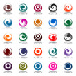 Royalty-Free Stock Vector Image: Spiral movement and rotation in circle shape. Design elements se