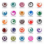 Movimento espiral e rotação em forma de círculo. se de elementos de design — Vetorial Stock