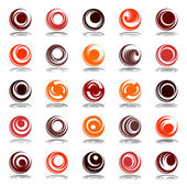 Movement and rotation in circle shape. Design elements set. — Stock Vector