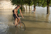 Flood in Budapest — Stock Photo