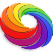 Stock Photo: Vortex Color Wheel 3D