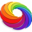 Vortex Color Wheel 3D - Stock Photo
