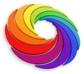 Vortex Color Wheel 3D — Stock Photo