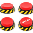 Stock Photo: Set of red buttons