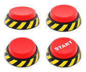 Set of red buttons — Stock Photo