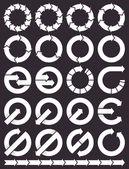 Zestaw ikon okrągłe strzałki — Wektor stockowy