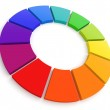 Color Wheel 3D — Stock Photo