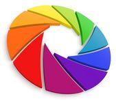 Aperture Color Wheel 3D — Stock Photo