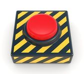 Red panic button — Stock Photo