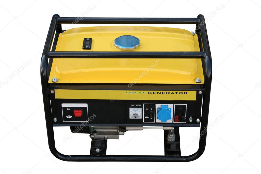 The portable petrol generator of a current separately on a white background — Stock Photo #8681949