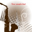 Stock Vector: Musical jazz sax