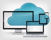 Cloud Service — Stock Vector