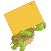 Funny Turtle. Delivery. — Vettoriale Stock