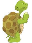 Funny Turtle. Pray. — Stock Vector