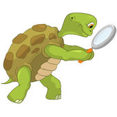 Funny Turtle. Finding. — Stock Vector