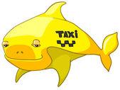 Ryby charakter kreskówka na białym tle. wektor. — Wektor stockowy