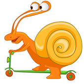 Cartoon Character Snail Isolated on White Background. Vector. — Stock Vector