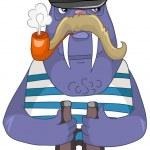 Cartoon Character Walrus — Stock Vector #8062186