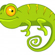 Cartoon Character Chameleon — Stock Vector