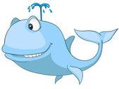Cartoon Character Whale — Stock Vector