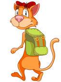 Cartoon Character Cat — Vetor de Stock