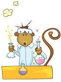 Macaco de personagem de desenho animado — Vetorial Stock