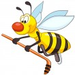 Cartoon Character Bee - Stock Vector