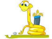 Cartoon Character Snake — Stock Vector