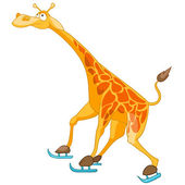 Cartoon charakter giraffe — Stockvektor